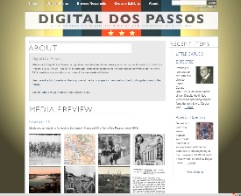 Screenshot of the http://www.DigitalDosPassos.com website