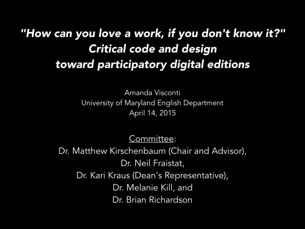 Image of presentation slide from the dissertation defense